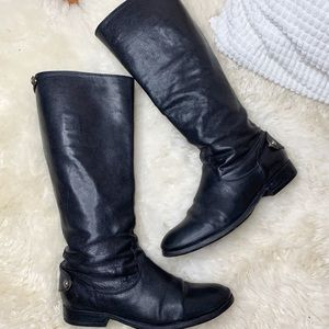 Frye Melissa Button Back Zip Up Wide Calf Boot